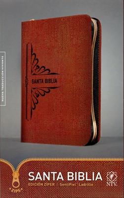 NTV Biblia Edición Zíper (Piel Especial, chocolate)