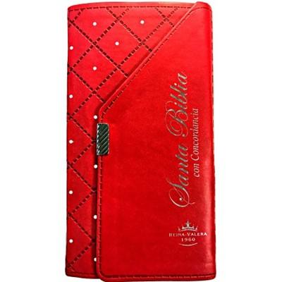 Biblia con Concordancia Estilo Chequera Roja (Imitación Piel Rojo)