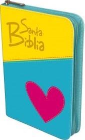 Biblia Corazón con cierre (Imitación Piel)