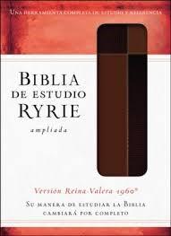 RVR 1960 Biblia De Estudio Ryrie Ampliada (Senti piel dos tonos marrón)