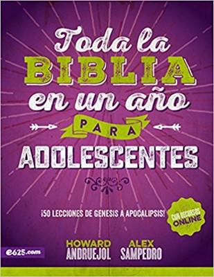 Toda La Biblia En Un Año Para Adolescente (Rústica)