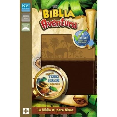 Biblia Aventura NVI (Piel especial, Chocolate)