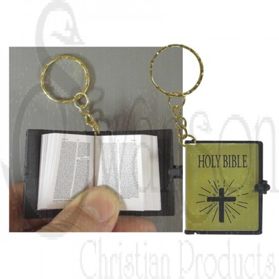 Llavero Mini Biblia Dorada