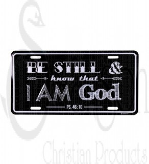 Placa Metalica/ I Am God