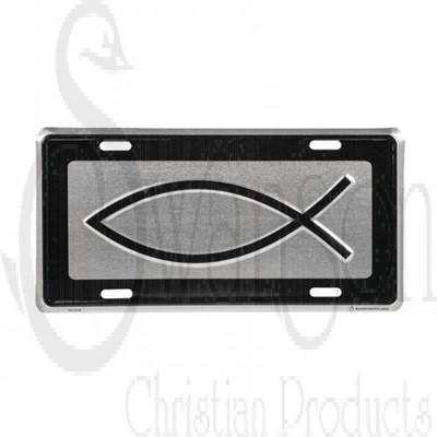 Placa Metalica/ Silver Fish