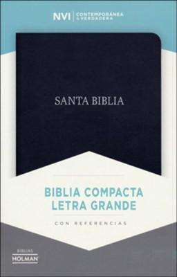 NVI Biblia Compacta Letra Grande (Piel fabricada, negro)