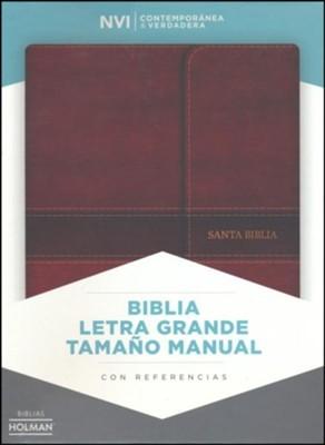 NVI Biblia Letra Grande Tamaño Manual (Símil piel con solapa con imán)