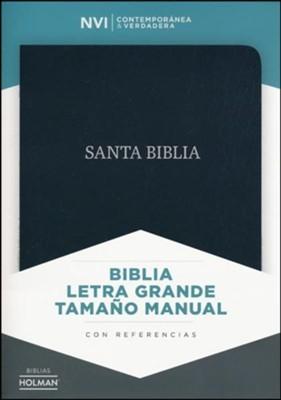NVI Biblia Letra Grande Tamaño Manual con Índice (Bonded Leather)
