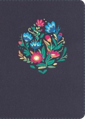 NVI Biblia Compacta Letra Grande con Índice (Azul bordado sobre tela)