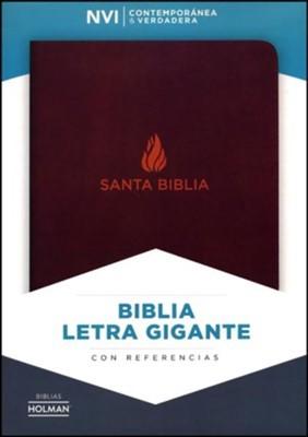 NVI Biblia Letra Grande (Piel fabricada, marrón)