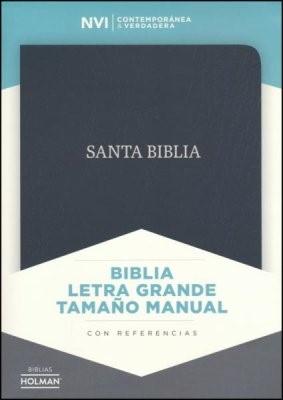 NVI Biblia Letra Grande Tamaño Manual (Piel fabricada, negro)