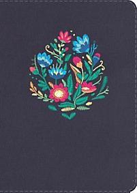 NVI Biblia Letra Grande Tamaño Manual (Azul bordado sobre tela)