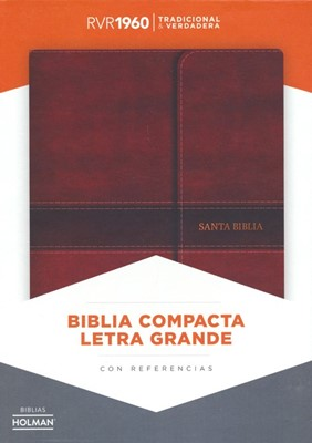 RVR 1960 Biblia Compacta Letra Grande (Leather Binding)