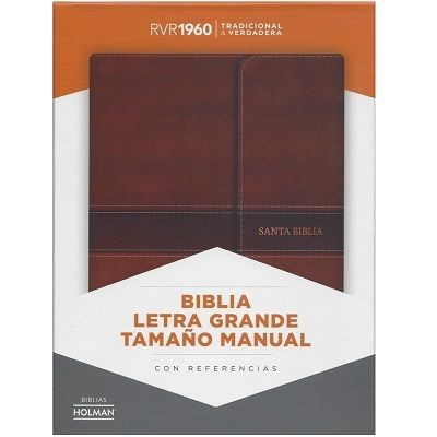 RVR 1960 Biblia Letra Grande Tamaño Manual con Índice (Leather Binding)