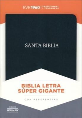 RVR 1960 Biblia Letra Súper Gigante (Piel fabricada, negro)