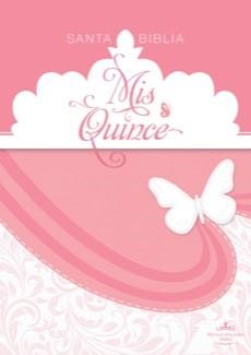 Biblia Para Quinceañeras (Símil piel, rosa y blanco)