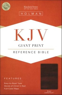 KJV Giant Print Reference Bible (Brown LeatherTouch)