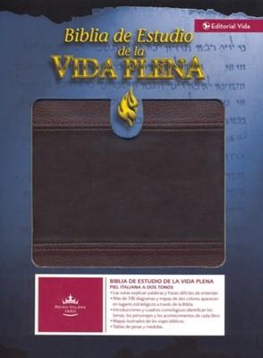 Biblia de Estudio Vida Plena Dos Tonos (Imitación Piel)