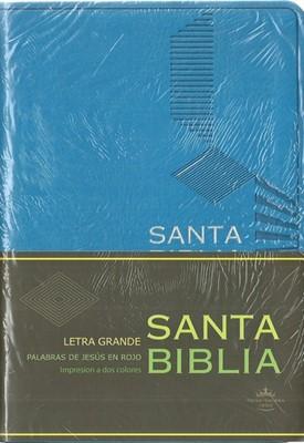 RVR60 Biblia Letra Grande con Concordancia (Semi-Piel Azul)