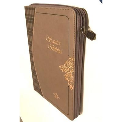 RVR1960 Biblia con Índice-Ziper (Piel fabricada, café)