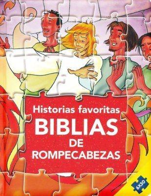 Historias Favoritas:Biblias de Rompecabezas (Tapa dura acolchada)