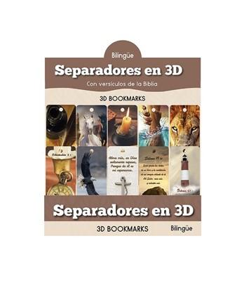 Separadores 3D Hombres Bilingue (Plástico duro)
