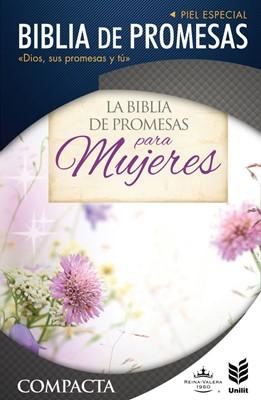 RVR 1960 Biblia de Promesas Compacta Floral Zipper Índice (Piel especial, floral)