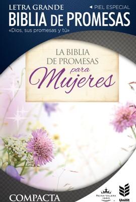 RVR 1960 Biblia de Promesas Compacta Floral Zipper (Tapa piel especial floral con cierre)