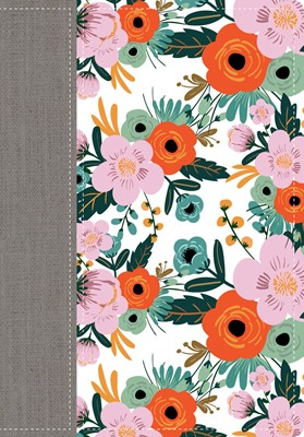 RVR 1960 Biblia De La Mujer Conforme Al Corazón Edición Limitada Flores (Tapa simil piel floral)
