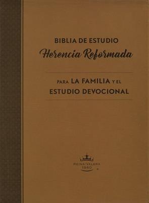 RVR 1960 Biblia De Estudio Herencia Reformada (Símil piel café)
