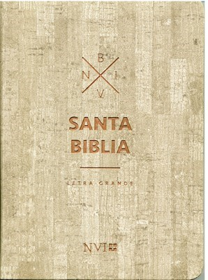 NVI Biblia Mediana Letra Grande Madera (Cuero Italiano Madera)