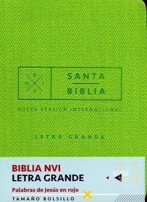 NVI Biblia de Bolsillo Letra Grande (Cuero Italiano Verde)