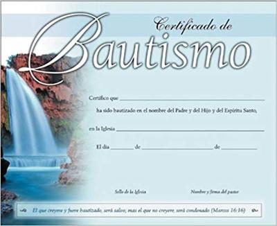 Certificado de Bautismo (Rústico)