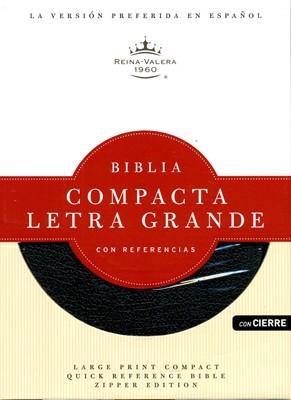 RVR 1960  Biblia Compacta Letra Grande (Piel Fabricada Negra Zíper)