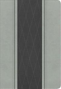 RVR 1960  Biblia Letra Grande Tamaño Manual (Símil Piel Gris Claro/Gris Carbón )