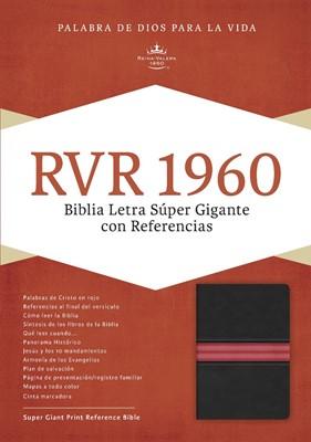 RVR1960 Biblia Letra Súper Gigante (Piel fabricada; Negra con rojo)