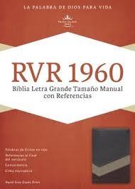 RVR1960 Biblia Letra Grande Tamaño Manual con Referencias (Tapa simil piel - Duotono marrón)