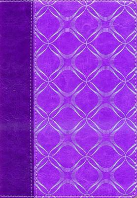 RVR 1960 Biblia Letra Grande Tamaño Manual con Referencias (Simil piel - Violeta - borde plateado)