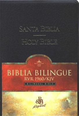 RVR1960 - KJV Biblia Bilingue con Índice (Cuero Artificial, Negro indexado)