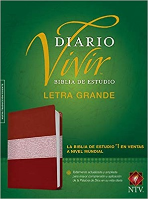 B -  Biblia De Estudio Diario Vivir Ntv Lgrande Vino Rosa Indice (Piel)