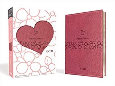 NVI Biblia Precious Moments Edición Quinceañera (Piel Rosa)
