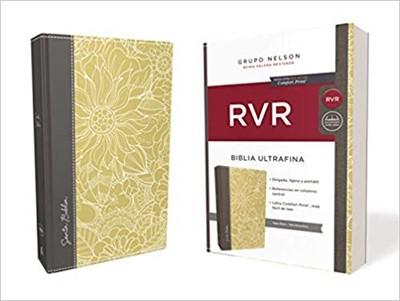 RVR 1960 Biblia Ultrafina (Tapa Dura, Tela Ocre, Gris)