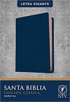 B-Ntv Edicion Clasica Letra Gigante Azul (Sentipiel)