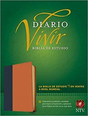 B-Ntv Estudio Diario Vivir Piel Azul-Cafe Claro
