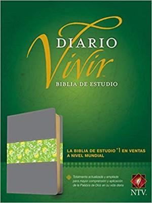 B-Ntv Estudio Diario Vivir Piel Gris-Verde (Tapa Dura)