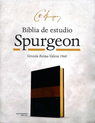 B - Biblia de Estudio Spurgeon Negro Marron Simil Piel (Negro/Marrón Símil Piel )