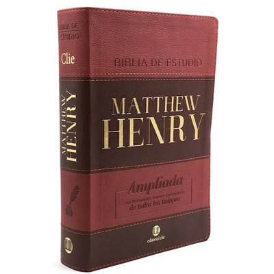 RVR Biblia de Estudio Matthew Henry (Piel Especial/Marrón dos Tonos)