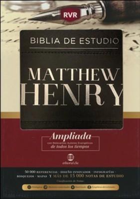 RVR Biblia de Estudio Matthew Henry (Piel)