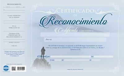 CERTIFICADO RECONOCIMIENTO (Papel)