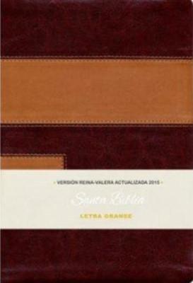RVA 2015 Biblia Piel Europea Dos Tonos Letra Grande (Piel Dos Tonos)
